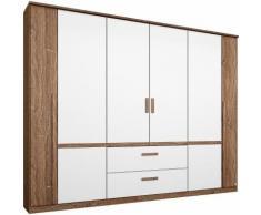 Armoire penderie 6 portes + tiroirs Rauch