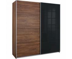 Armoire penderie 2 portes coulissantes dont 1 en verre Rauch