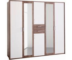 Armoire penderie 8 portes + 2 tiroirs ou 6 portes + 2 tiroirs, 2 larg