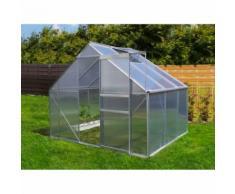 Serre de jardin 4.75 m² en aluminium - 250x190 cm - EUROSPEN