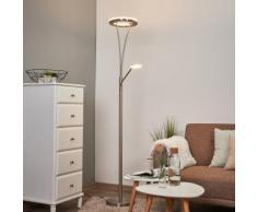 Lampadaire à éclairage indirect LED Janelle liseuse Luminaire.fr moderne - LAMPENWELT