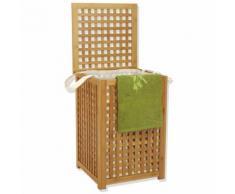 Panier à linge - Toile en polyester - Gamme bambou - INSTANT D'O