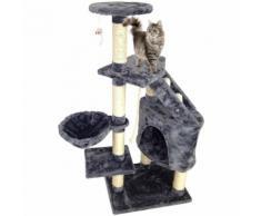 Perchoir pour Chat, Arbre à Chat, 120 cm, 5 perchoirs, Gris, Matériau: MDF - STORADDICT