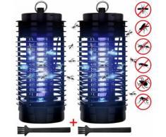 2x Piège anti-moustique Lampe UV Protection anti-insectes Mouches Moustiques - DEUBA