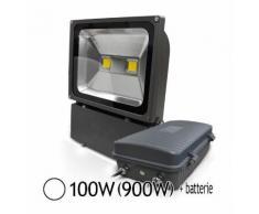 Projecteur LED 100W (900W) IP65 Blanc jour 6000°K avec batterie de secours - VISION-EL