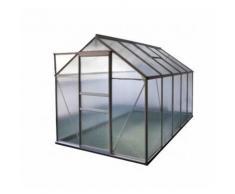 Serre en polycarbonate alvéolaire 5,89 m² avec base - LA MAISON DU JARDIN