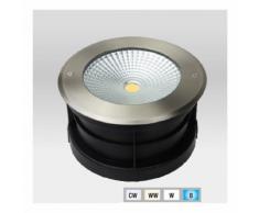Spot LED Extérieur à enterrer ou encastrer 24W (éclairage 200W) étanche IP67   Blanc Chaud