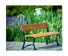 Banc de jardin en bois couleur teck et aluminium 150cm - COOK