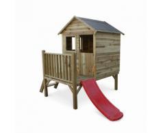 Maisonnette en bois FSC Magnolia de 2m², pin autoclave - ALICE'S GARDEN
