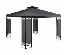 Tonnelle de jardin LORCA anthracite- 3x3m - Pavillon de réception / Tente - DEUBA