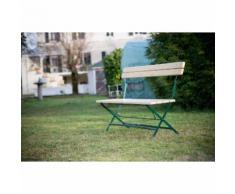 HABRITA - Banc de jardin VICHY en sapin pliable 4 personnes