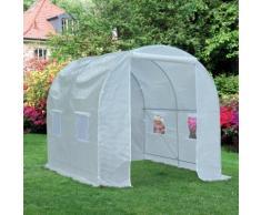 Serre de jardin tunnel surface sol 5 m² 2,5L x 2l x 2H m châssis tubulaire renforcé 18 mm 4