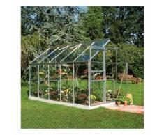 Serre de jardin 6,2m² en aluminium et verre horticole Popular - Halls