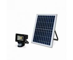 Projecteur très puissant 10W LED solaire 900 lumens, blanc chaud à détecteur de mouvements,