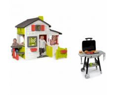 Cabane enfant Friends House + barbecue - SMOBY