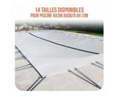 Bâche d'hivernage PVC beige 580g/m² pour piscine 4m x 8m - Linxor