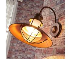 Applique Louisanne Lampenwelt style rustique brun rouille couloir
