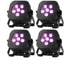 Ayra ComPar 10 spot LED RGBAW 5-en-1 (lot de 4)