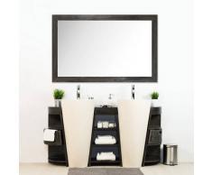 BAIN ET TECK Salle de bain en teck keops double gris et son miroir en teck