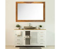 BAIN ET TECK Salle de bain Django blanc et son miroir vernis