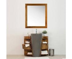 BAIN ET TECK Salle de bain en teck Keops simple vasque et son miroir teck