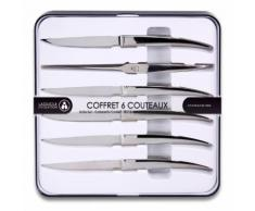 6 couteaux de table forgé Héritage 443670 - LAGUIOLE