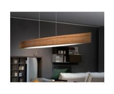 Suspension barre LED en métal longueur 97cm Fornes Bois