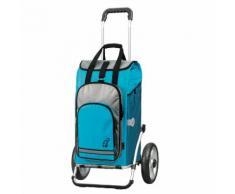 Chariot de course 2 roues pliable 2en1 châssis alu Royal Shopper Hydro Turquoise