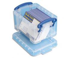 Boîte de rangement en plastique transparent avec couvercle - 0,3 litre - dimensions : L12 x H6,5 x P8,5 cm