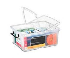 Boîte de rangement en plastique Strata - 24 L - couvercle clipsé - dim int 31,7 x 40,2 x 17,5 cm