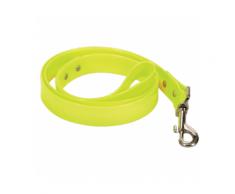 Laisse fluo jaune en pvc pour chien Chapuis Sellerie Largeur 25 mm Longueur 1,20 m