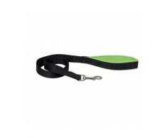 Laisse sangle noire en nylon pour chien avec poignée confort Chapuis Sellerie Largeur 15 mm Longueur 1,20 m