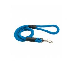 Laisse bleue en corde tressée pour chien Chapuis Sellerie Diamètre 15 mm Longueur 1,20 m