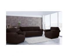 La taille : Housse de canapé 3 places + 1 place + 1 place / Chocolat