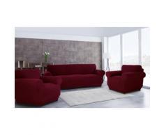 La taille : Housse de canapé 3 places + 1 place + 1 place / Bordeaux
