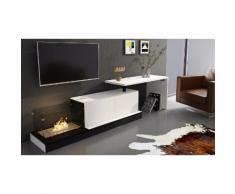 Mobilier de salon extensible moderne avec cheminée et bureau