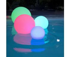 Boule lumineuse multicolore autonome à LED D40cm