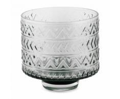 Vase en verre gris fumé h17cm