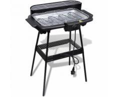vidaXL Barbecue Electrique Grille Rectangulaire pour Jardin