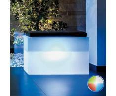 Coffre de rangement Roomy en Résine Rectangulaire 80X35 CM Led Multicolor