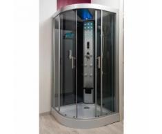 Aqua+ - Cabine de douche HYDRO SKADI GRISE 100X100 SANS SILICONE