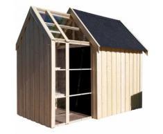 Abri de jardin bois Vertigo Serre 28 mm - 5,34 m²