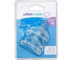 Tétines 0-12m silicone Bébé Confort - les 2 tétines