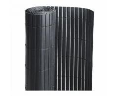 Canisse PVC double face Noir 6 m - 2 rouleaux de 3 x 1 m - Jardideco