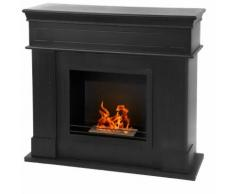 Divina-fire Cheminée au bioéthanol en bois ameublement design chauffage CAMBRIDGE N