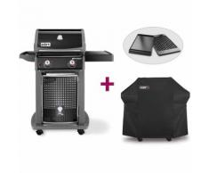 Barbecue Spirit E-210 Classic + Plancha + Housse - Weber