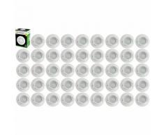 Lot de 45 Spot Led Encastrable Complete Blanc Orientable lumière Blanc Chaud eq. 50W ref.193