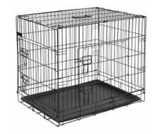 @Pet Cage pour chien en métal 77,5x48,5x55,5 cm Noir 15002
