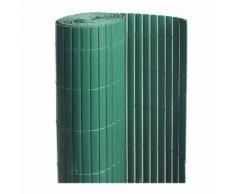 Canisse PVC double face Vert 6 m - 2 rouleaux de 3 x 1 m - Jardideco