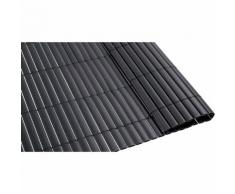Canisse PVC gris foncé double face 1600 g/m² - 1,5 x 5 mètres